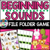 Beginning Sounds File Folder Match Up Game for Phonemic Awareness