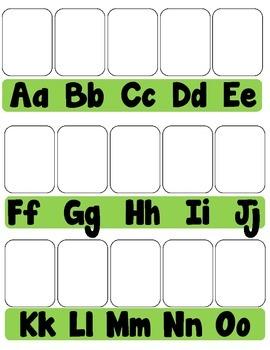 Beginning Sounds File Folder Match Up Game for Phonemic Awareness