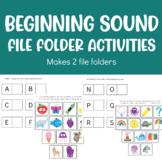 Beginning Sounds File Folder activities (Makes 2 independe