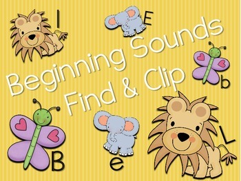 Beginning Sounds Find and Clip Aa to Zz RF.K.2d