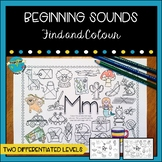 Beginning Sounds Find and Colour #christmasinjuly