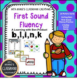 Beginning Sounds ~ First Sound Fluency (b, l, i, n, and k )