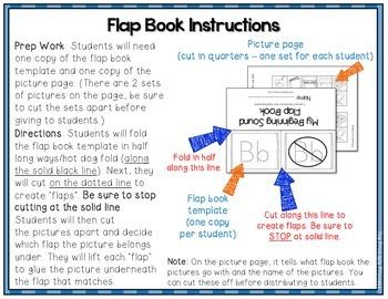 Beginning Sounds Flap Books