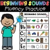 Beginning Sounds Fluency Practice Phonics Literacy Center
