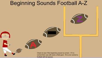 Beginning Sounds Football A-Z