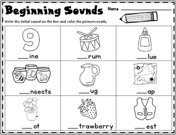 Beginning Sounds Freebie