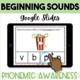 Beginning Sounds GOOGLE Classroom distance learning