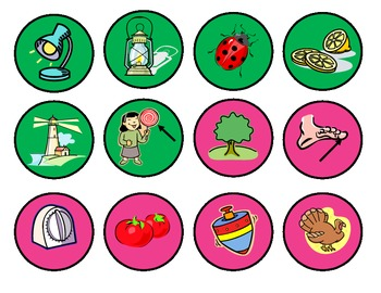 Beginning Sounds Game: Circus-themed practice for PreK, Kg or 1st