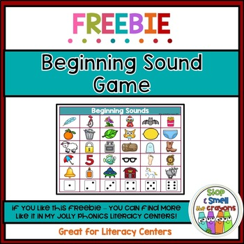 Beginning Sounds Game FREEBIE!!