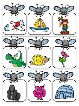 Beginning Sounds Game in French - La tapette à mouches (les sons initiaux)