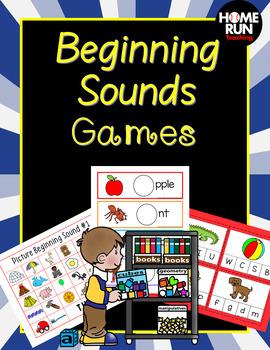 Beginning Sounds Games, Phonics, RTI, phonemic awareness