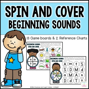 Beginning Sounds Games - Spin and Cover