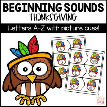 Beginning Sounds Games Thanksgiving