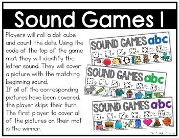 Beginning Sounds Games for Kindergarten