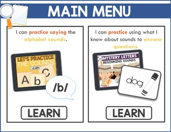 Beginning Sounds Game - Phonics Game for Smartboards & Whiteboards