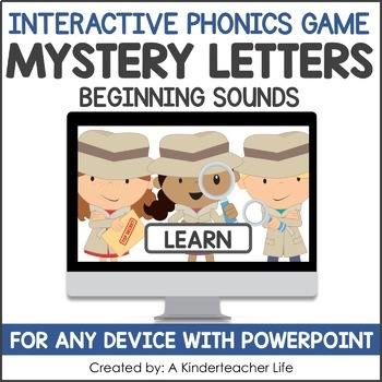 Beginning Sounds Game - Phonics Game for Smartboards & Whi