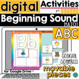 Beginning Sounds Google Classroom Activity DISTANCE LEARNING