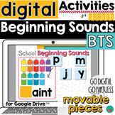 Beginning Sounds Google Slides - Activity - School Theme -