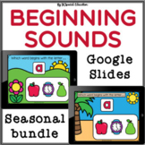 Beginning Sounds Google Slides Seasonal bundle