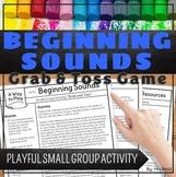 Beginning Sounds Activity Grab and Toss