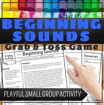 Beginning Sounds Grab & Toss Small Group Activity