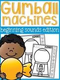 Beginning Sounds Gumball Machine Practice Sheets