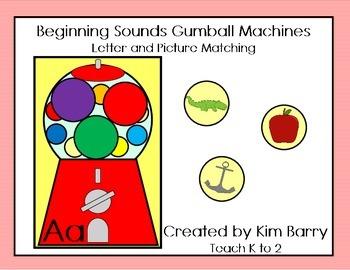 Beginning Sounds Gumball Machines