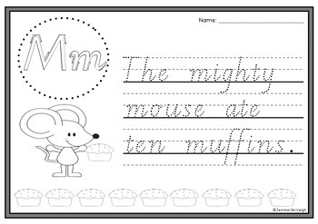 Beginning Sounds and Alliteration Poems Handwriting Sheets ~ Miss Mac Attack ~