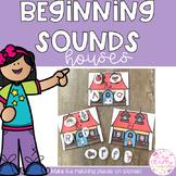 Beginning Sounds Houses Match