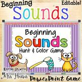 Beginning Sounds Hunt & Find PowerPoint