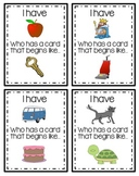 Beginning Sounds [I Have, Who Has] Game