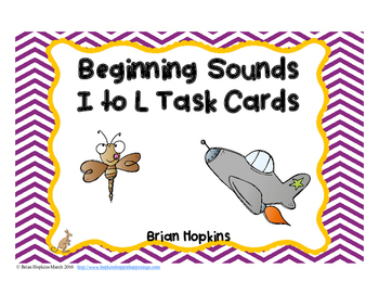 Beginning Sounds I to L Task Cards
