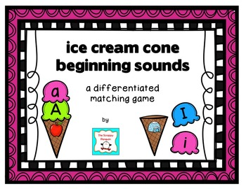 Beginning Sounds Ice Cream Cone Matching