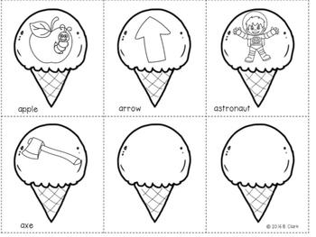 Beginning Sounds Ice Cream Cones