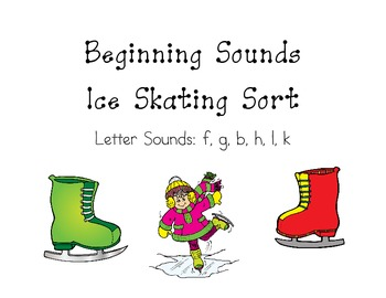 Beginning Sounds Ice Skating Sort