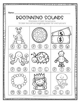 Beginning Sounds Identifying