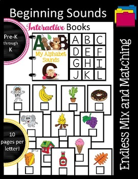 Beginning Sounds Interactive Books Growing Bundle