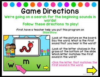 Beginning Sounds {PowerPoint Game}