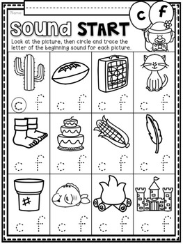 Beginning Sounds ~ Introductory Phonics and Pre-Reading Skills ~ Printables