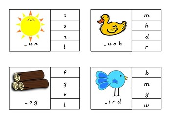 Beginning Sounds Isolation Game