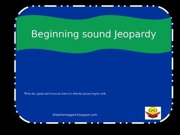 Beginning Sounds Jeopardy