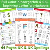Beginning Sounds Kindergarten & ESL EFL Writing Pack
