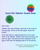 Beginning Sounds Koosh Ball Smartboard game