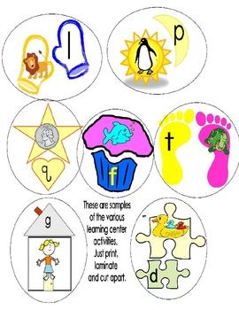 Beginning Sounds: Learning Center Activities