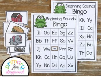 Beginning Sounds Letter Bingo