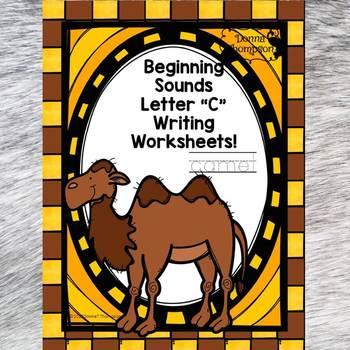 "Beginning Sounds ""Letter C"" (Writing Worksheets)"