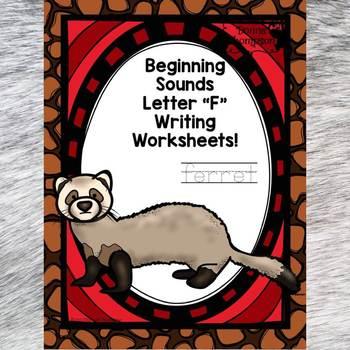 "Beginning Sounds ""Letter F"" (Writing Worksheets)"