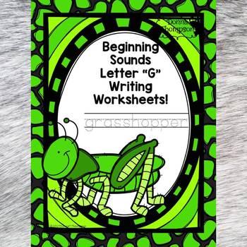 "Beginning Sounds ""Letter G"" (Writing Worksheets)"