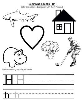 Beginning Sounds Letter H