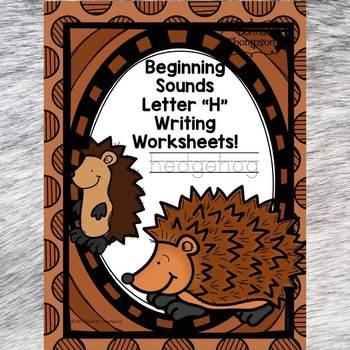 "Beginning Sounds ""Letter H"" (Writing Worksheets)"